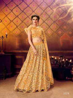 Awesome Yellow Colour Lehenga With sequence work lehenga