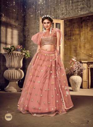 Exclusive Peach Colour Designer Look Lehenga