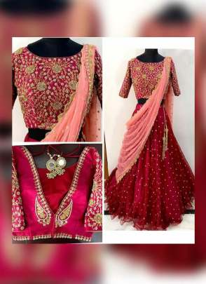 Dark Maroon Color Designer Wedding Wear