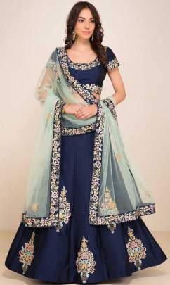 glorious Reasam Embroidered navy blue