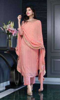 LEMONADE PINK GEORGETTE AWESOME SEQUENCE WORK