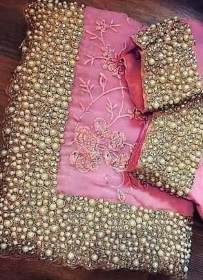 Charming Pink Color Party Wear Designer Saree With Heavy Embroidery Work