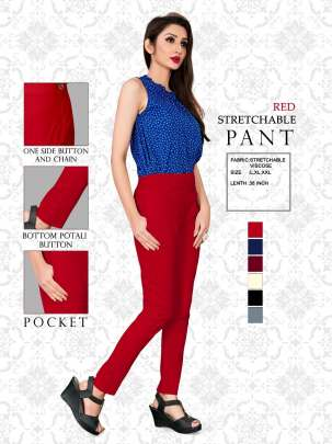 RED STRETCHABLE VISCOSE