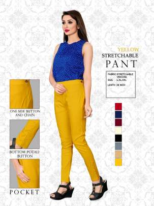 YELLOW STRETCHABLE VISCOSE